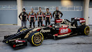 Lotus E22 Official Reveal  Nicolas Prost, Romain Grosjean, Pastor Maldonado, Charles Pic and Marco Sorensen