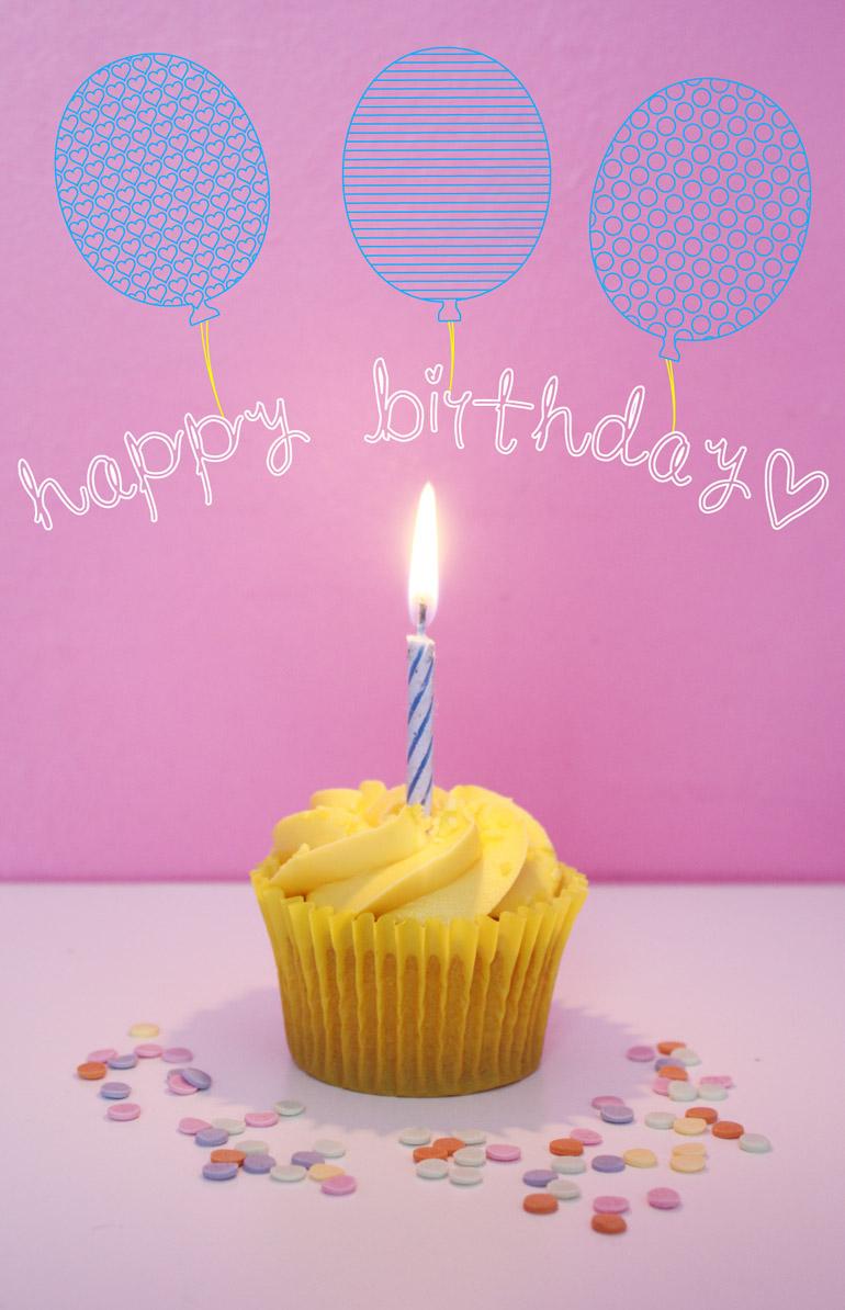 little white socks birthday cupcake