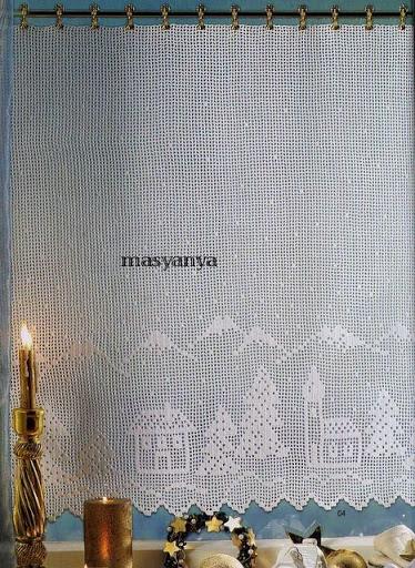cortinas tejidas navideñas 1117563357312