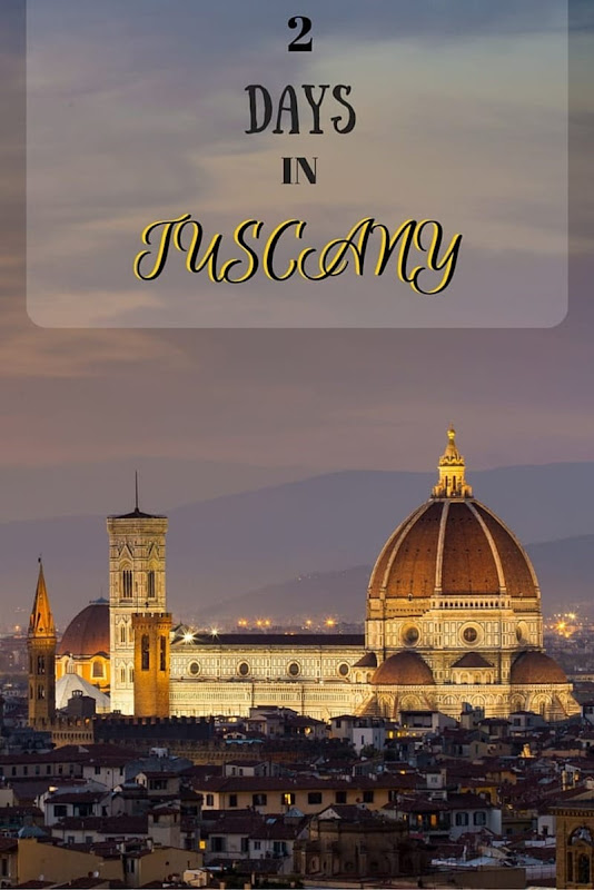Guide to spending two days in Tuscany seeing the highlignts, including Florence, Siena, San Gimigimano and vineyards!