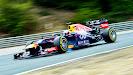Sebastian Vettel lockin up his Red Bull RB9