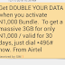 Airtel Double Data Offer - Get 3GB For Only 1k, 7GB For 2k or 18GB for 4k