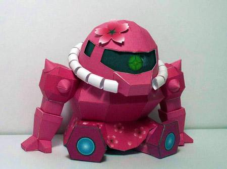 Moe Zaku Papercraft