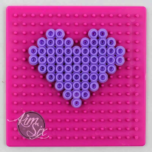 Making a pearler bead heart