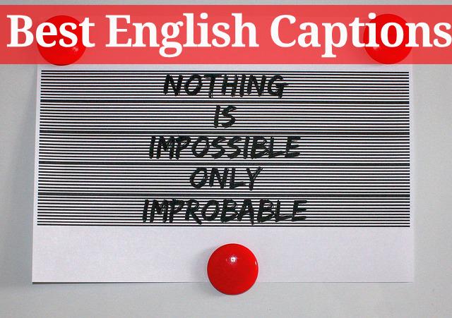 Best English Captions