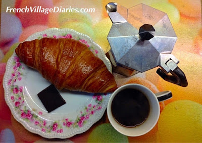 French Village Diaries celebrating Bialetti coffee and real French croissants
