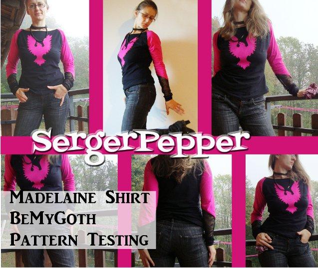 Serger Pepper - Pattern Testing - Madelaine Shirt - BeMyGoth