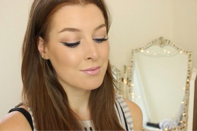 Summer makeup and winged eyeliner