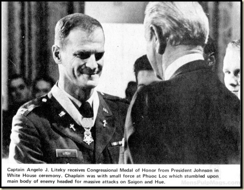 Charlie Liteky getting Medal of Honor