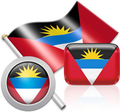 Antiguan flag icons pictures collection