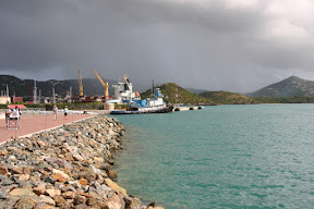 Rainclouds over Saint Thomas