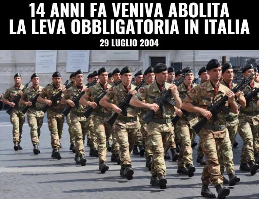 14 anni fa veniva abolita la leva obbligatoria in Italia