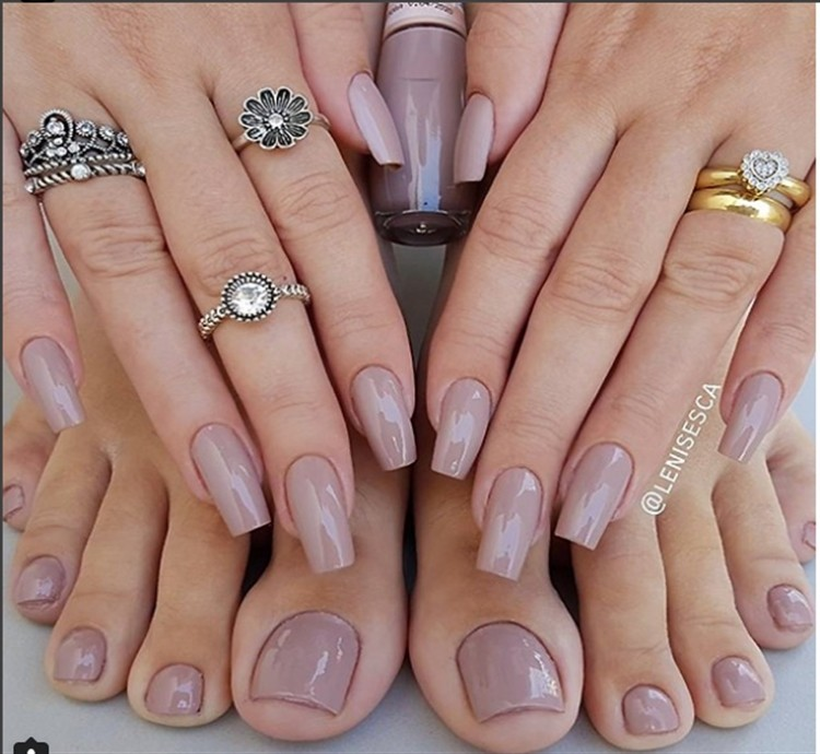 30+ Creative Mauve Nail Designs to Inspire You Trends 2018