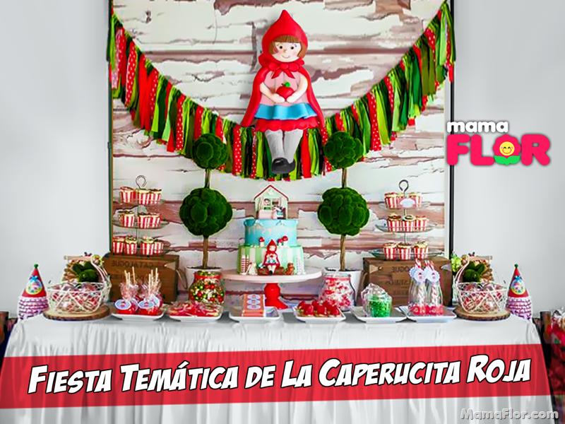 """Decoración de Fiesta de """"Caperucita Roja"""" + Centro de Mesa y Torta"""