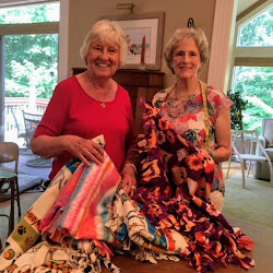 Fairfield Glade Hunters Cove Neighborhood Project Linus Blanket Making Party June, 2018