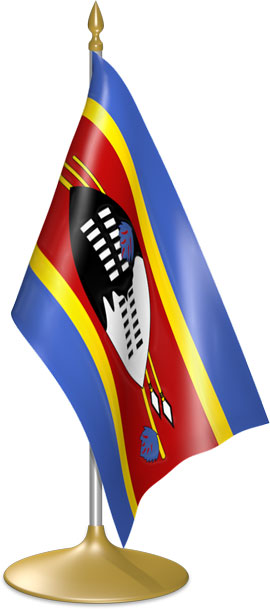 Swazi table flags - desk flags