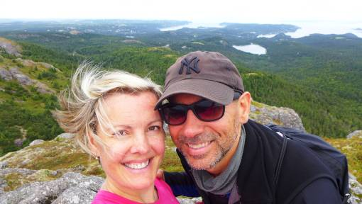 Keli-Ann Pye-Beshara & Besh on a hiking adventure. Blue Hill Pond Trail, Conception Harbour, NL