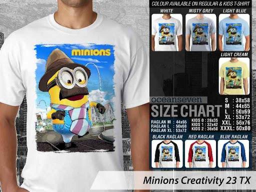 Kaos Kartun Minions Creativity 23 distro ocean seven