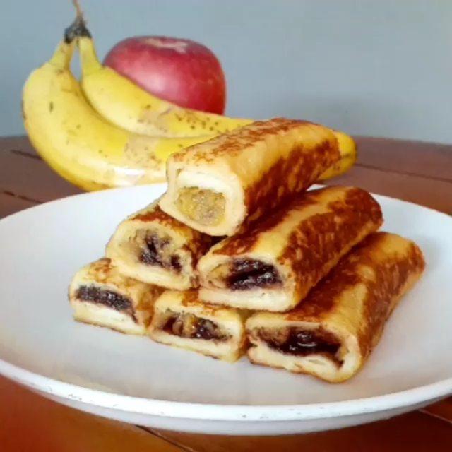 Begini Cara Gampang Membuat Roti pisang cokelat