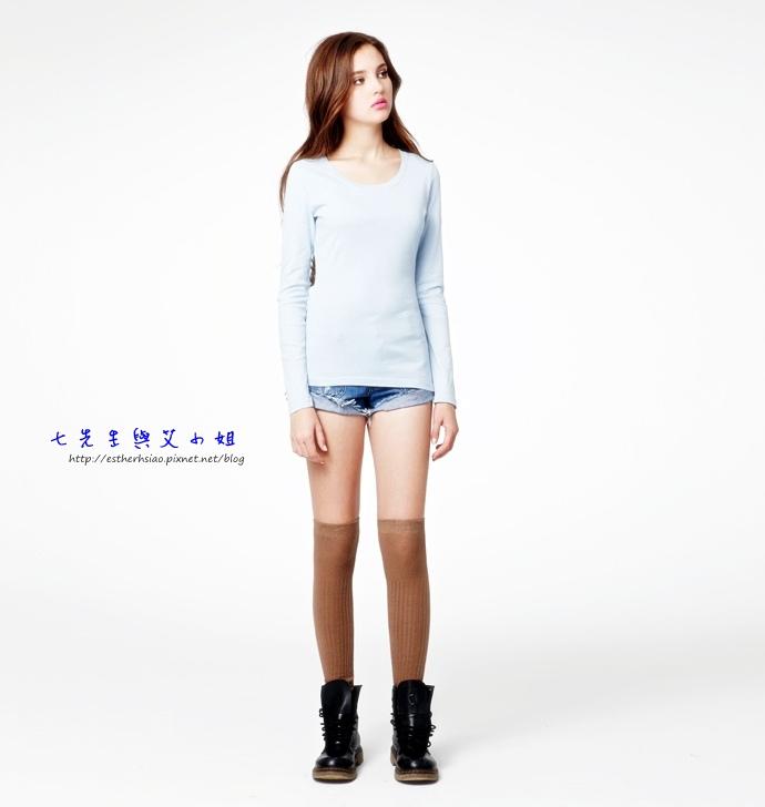 10 美型純棉百搭T恤(湖水藍)
