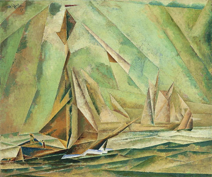 Lyonel Feininger - Ships 1917
