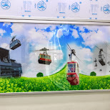 the cable car throughout the years in Seoul, Seoul Special City, South Korea