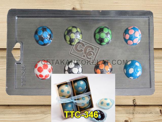 cetakan coklat cokelat olahraga sepak bola TTC346