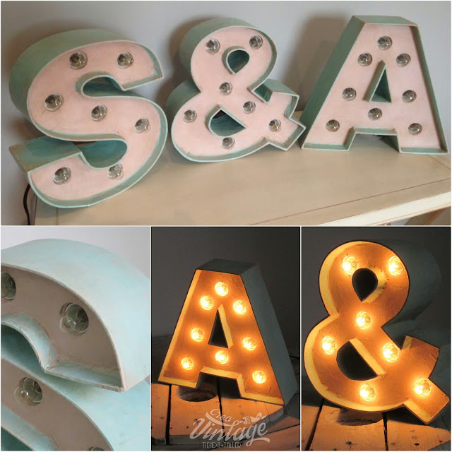 letras con bombillas
