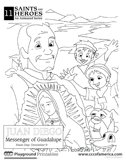 Happy Feast Day Of Our Lady Of Guadalupe Coloring Page