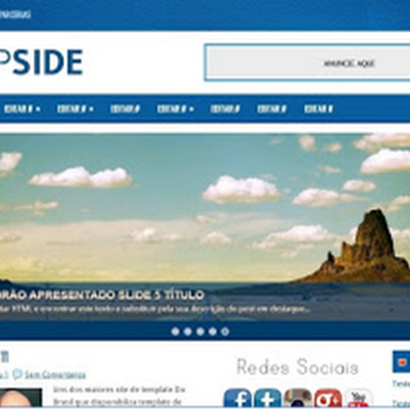 Template Para Blogger Profissional Top side 00634