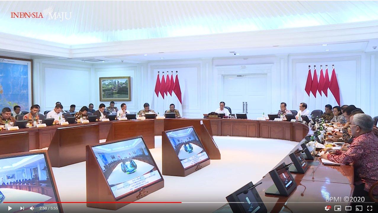 Terlacak Video Jejak Interaksi Menhub Budi Karya sebelum Positif Corona, Ada Jokowi dan Para Menteri