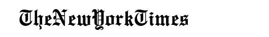 EnglishTowne font logo New York Times