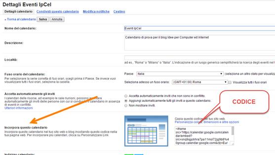 Calendario Per Sito Web.Installare Il Widget Di Google Calendar Per Mostrare Gli