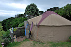 We then moved onto Paekakariki Backpackers, north of Wellington. The only room left was the yurt!