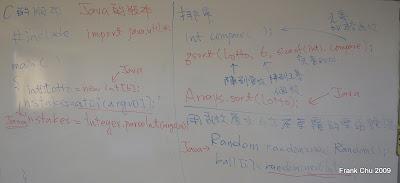 Java版本的樂透號碼產生程式差異