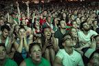 Magyar szurkolók a franciaországi labdarúgó Európa-bajnokság Magyarország - Belgium mérkőzése alatt, Budapest, 2016. június 26. (MTI Fotó: Kallos Bea)
