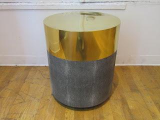 Brass Top Shagreen Table