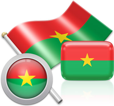 Burkinabé flag icons pictures collection