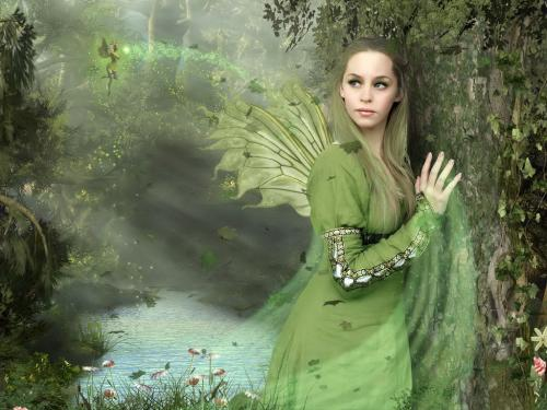 Green Forest Fairy, Fairies Girls