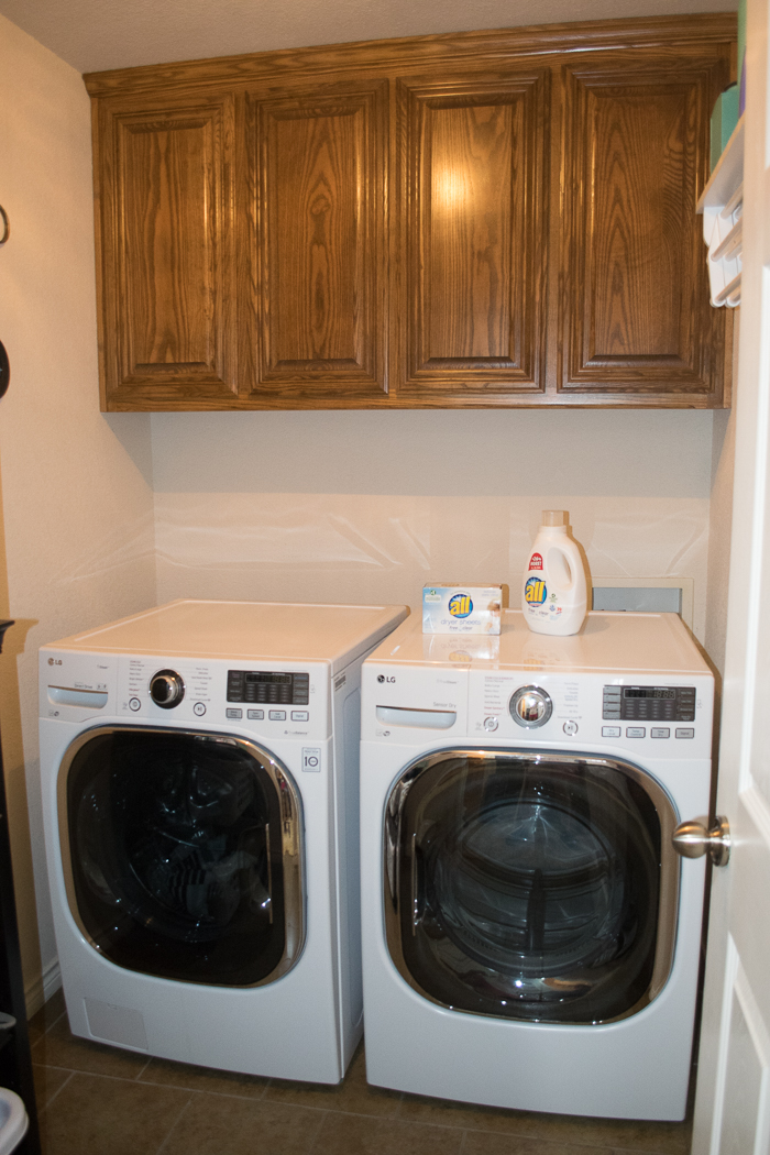 Laundry room before table