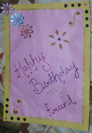 Front Page of Happy Birthday my Friend Card.jpg