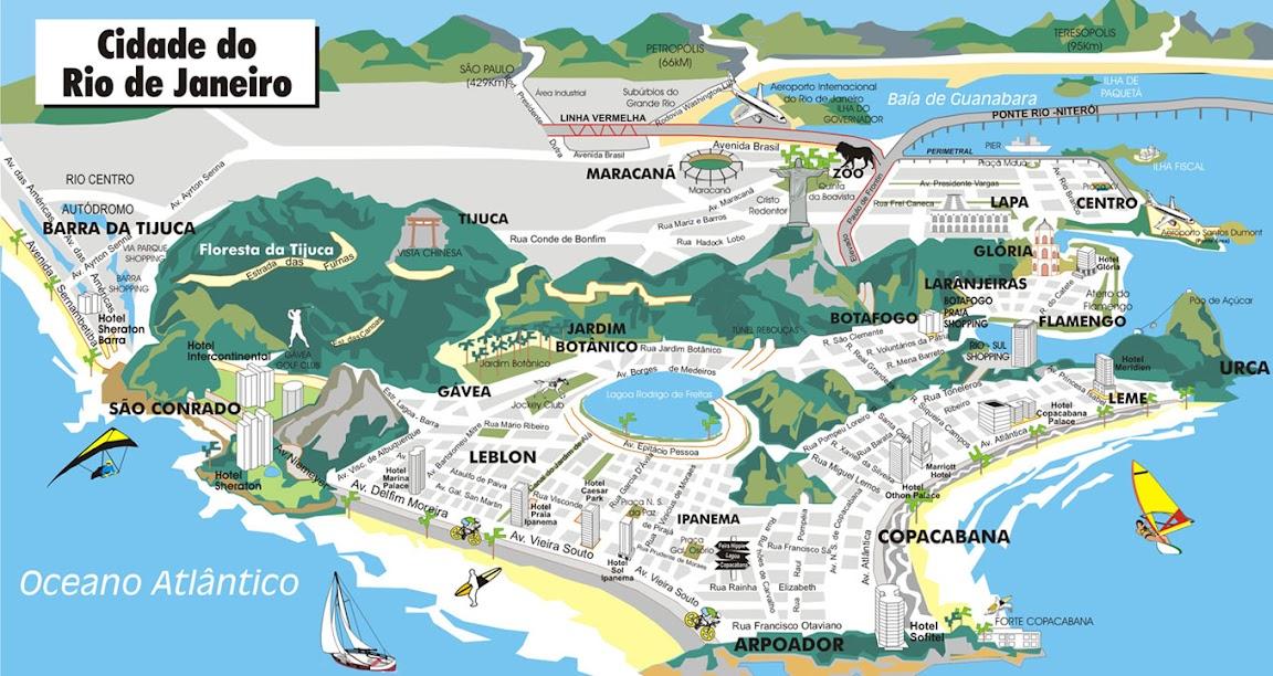 Mapa Turistico Rio de Janeiro