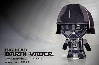 Big Head Darth Vader Paper Toy