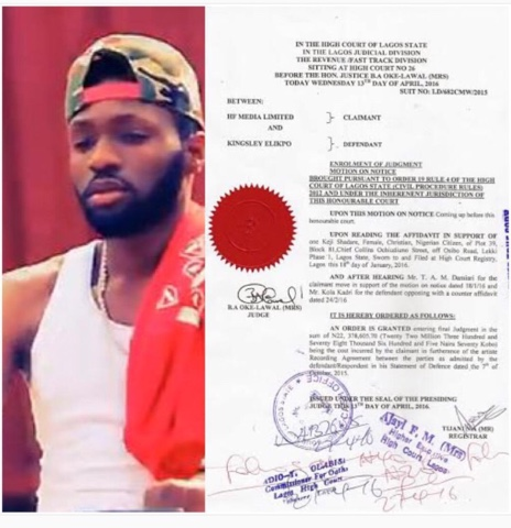 Nigerian artist dj zeez who a lagos court has asked to refund N22m to his record label