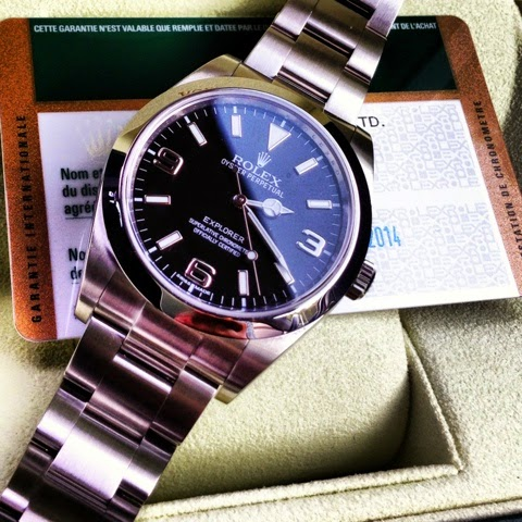 Gracie Hour N A Rolex New Explorer Blue Lume 214270