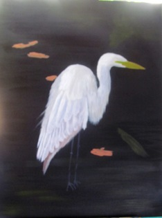 1602251 Feb 27 The Egret In Water