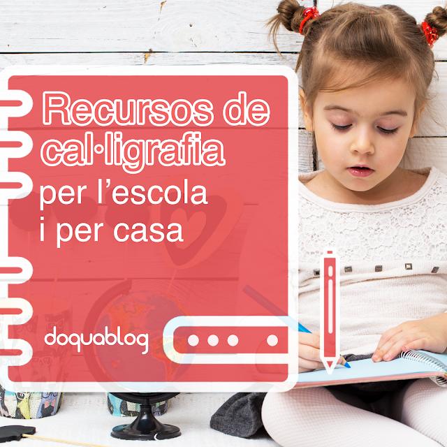 recursos de cal·ligrafia per l'escola i per casa