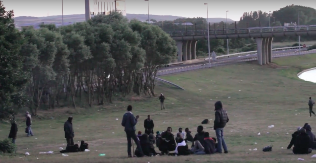 Illegal migrants attack terrified children at border crossing