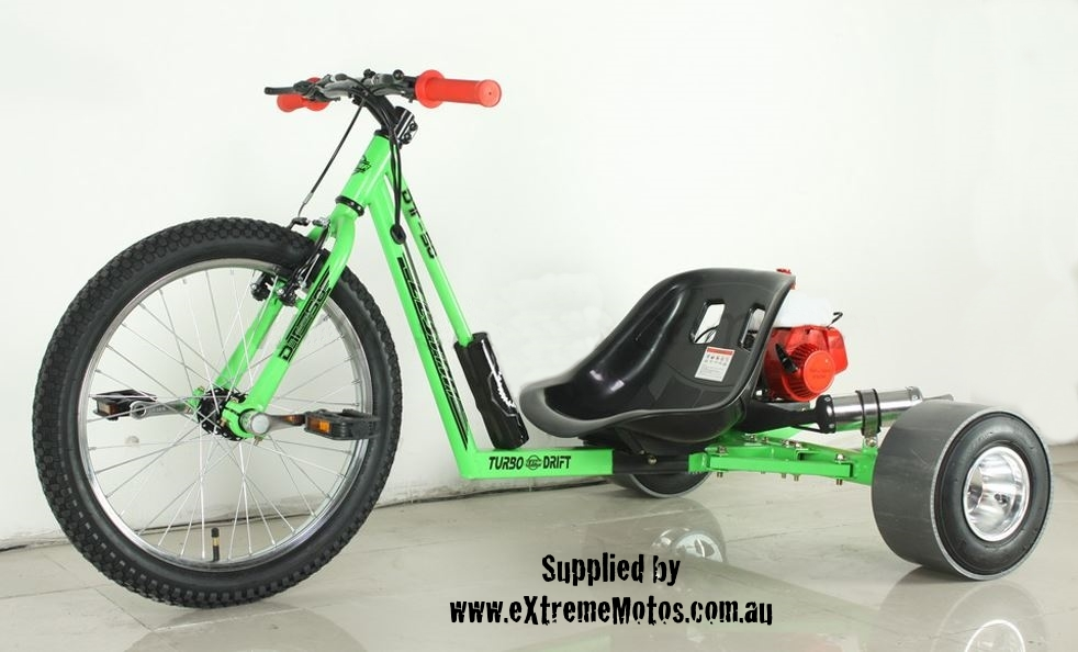 Drift Trike Petrol Powered Motorised Slider Drifting Tricycle Bike For Sale  Green