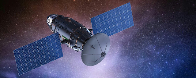 Tracking arrangement of a satellite,  how satellite works in space.